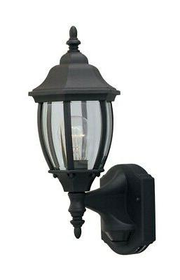 "Designers Fountain 2420MD-BK 1-Light 6.5"" Wall Lantern with"