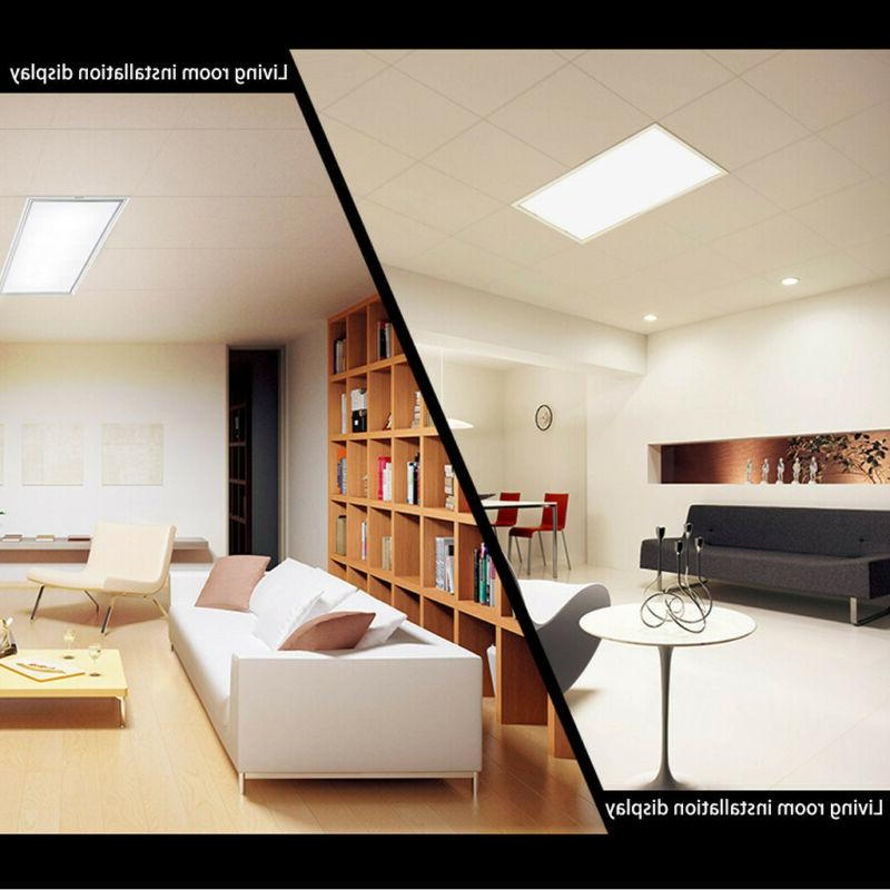 28W Rectangle Flat Ceiling Light Down US