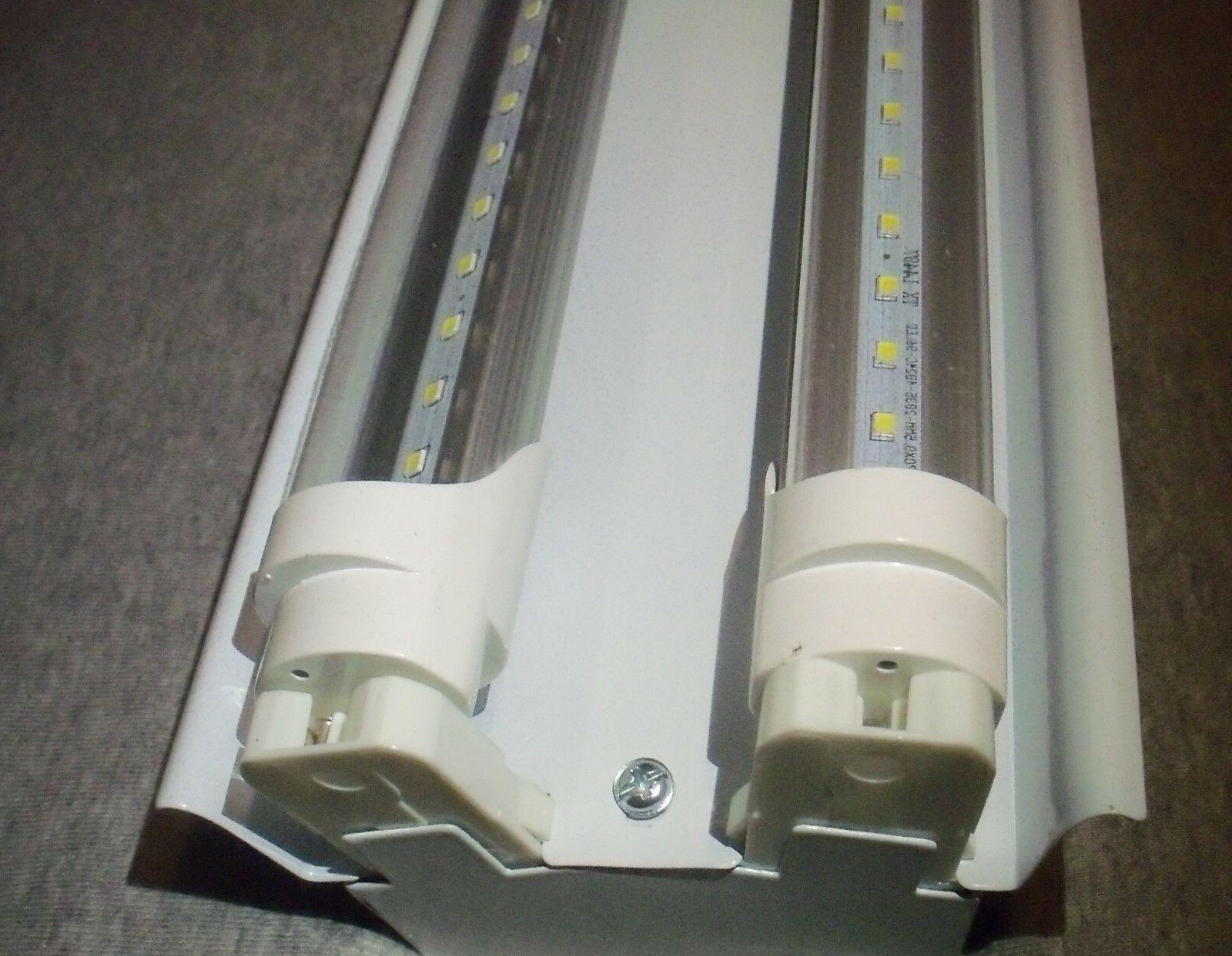 4 FT LED Light Fixture With T8 LED Bulbs Shop And Garage Cle