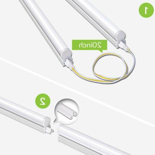 Hykolity 4FT LED Shop T5 Linkable Ceiling Tube Fixture 22W