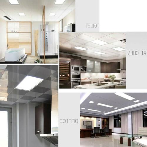 4PACK Bright 72W LED Panel Ceiling Fixture Office Troffer Lamp