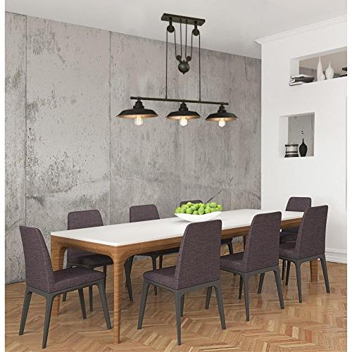 Westinghouse 6332500 Three-Light Indoor Pendant, with Highlights and Metallic Bronze Interior