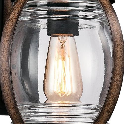 Westinghouse One-Light Outdoor Textured Black and Barnwood Finish with