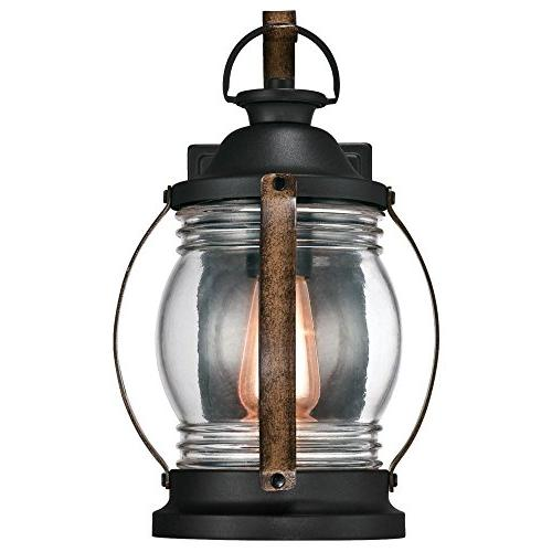 Westinghouse Lighting One-Light Outdoor Wall Textured Black Barnwood Finish with
