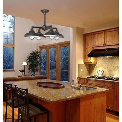 Westinghouse Four-Light Indoor Ceiling Bronze and