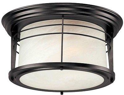 Westinghouse 6674600 Senecaville Two-Light Weathered Bronze Steel with White Alabaster Glass,