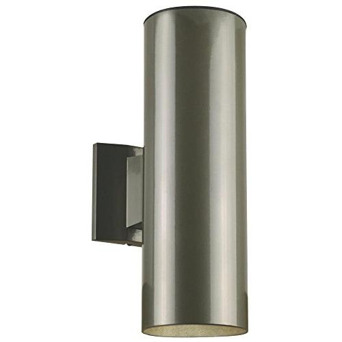 6797500 Two-Light Outdoor Wall Fixture, Polished Graphite Fi