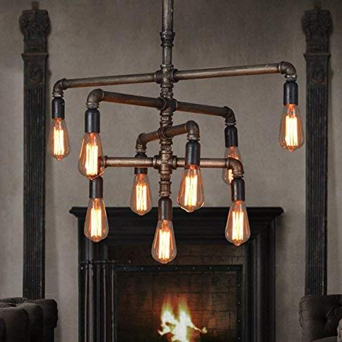 SEOL-LIGHT Barn Chandeliers lightMax 540W Metal Fixture,Dinning way