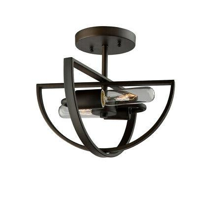 "Artcraft Lighting AC10882OB Newport 2-Light 12"" Wide Semi-Fl"