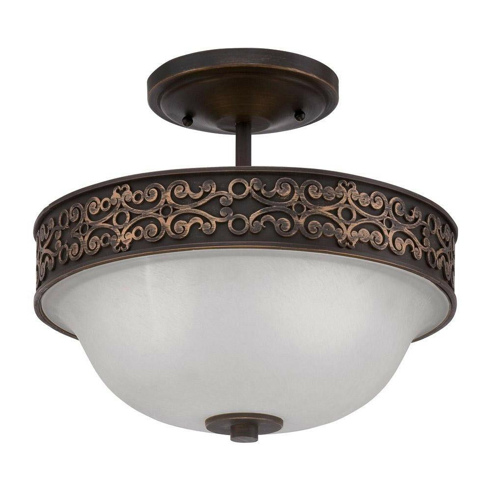 Craftmade Amsden 2 Light Aged Bronze Semi Flush Or Hanging F
