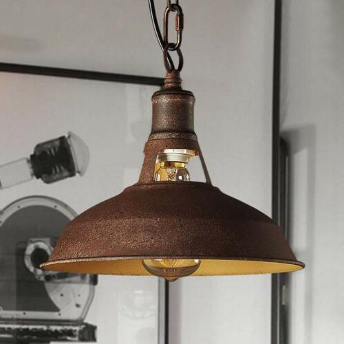 Antique Hanging Barn Pendant Light Rustic Kitchen Dining Roo