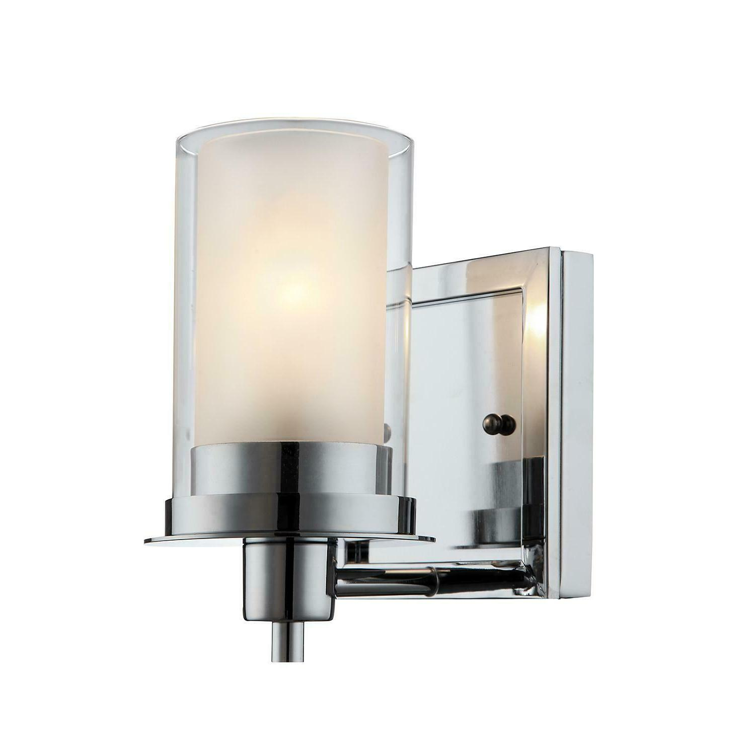 avalon chrome wall mounted light fixture 1