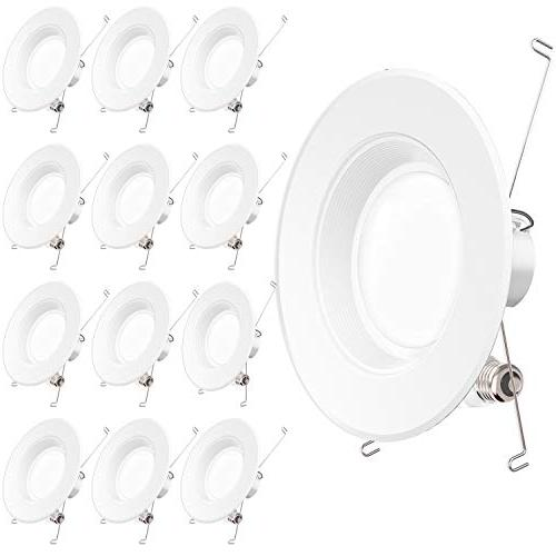 Sunco Lighting 12 Pack 5/6 Inch Baffle Recessed Retrofit Kit
