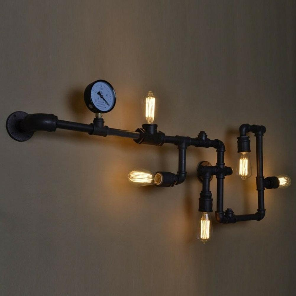 brand industrial farmhouse bracket light fixture iron