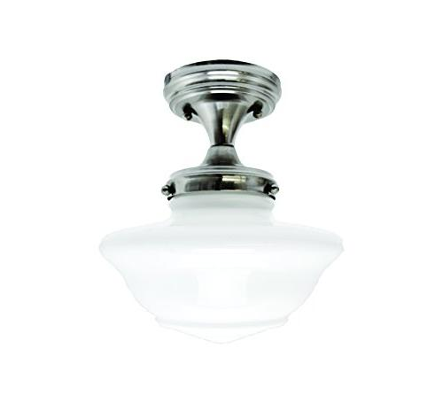 Ceiling Mount Light in Satin Nickel