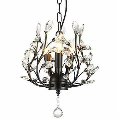 chandeliers farmhouse crystal branch pendant hanging lightin