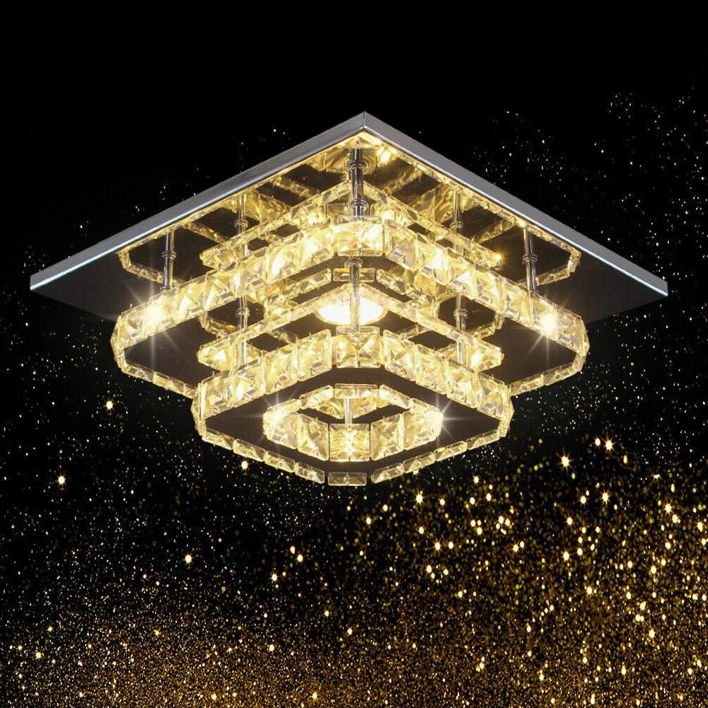 Crystal Stainless Flush Mount Fixture