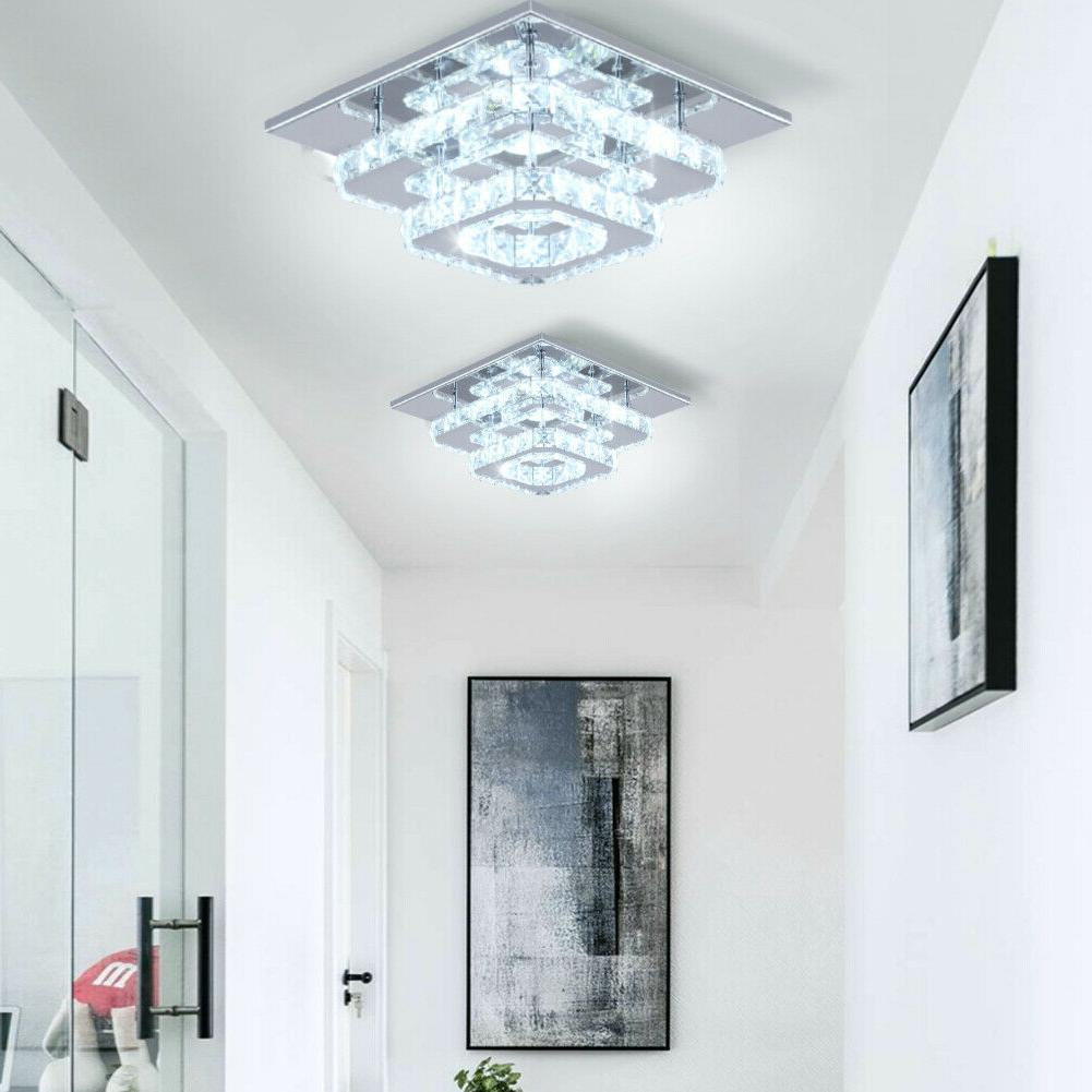 Crystal Stainless Steel Flush Mount Lights