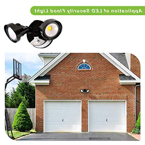 Hykolity 20W to Dawn LED Light, Outdoor Mount 2200lm Adjustable Dual ETL Listed