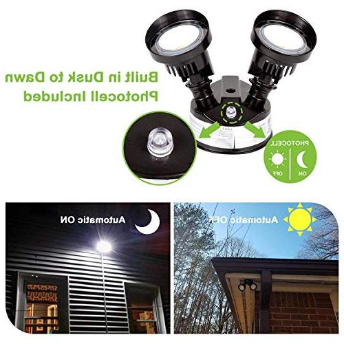 Hykolity Dawn Outdoor Wall Mount 2200lm 5000K Adjustable Head, Listed &