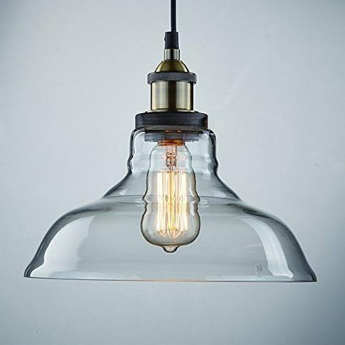 CLAXY Vintage Style Glass Hanging Light