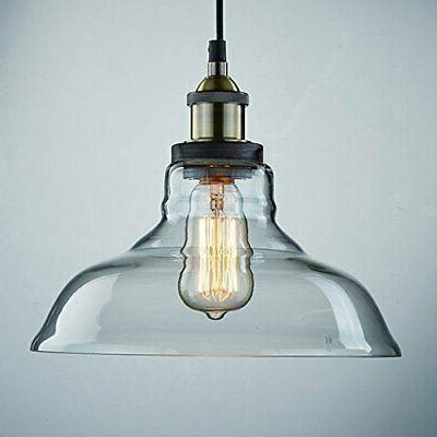 CLAXY Industrial Vintage Style Glass Hanging Lig