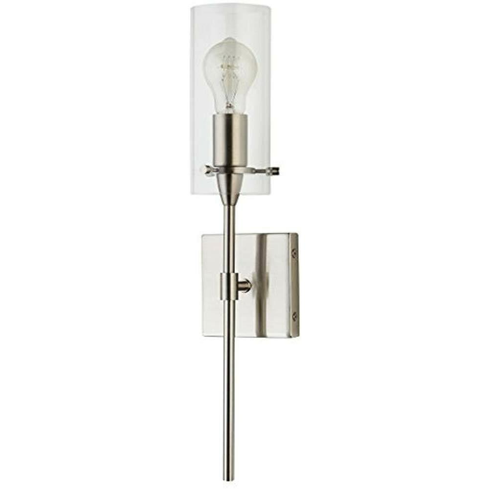 Effimero Vanity Light Fixture – Brushed Nickel w/Clear Cyl