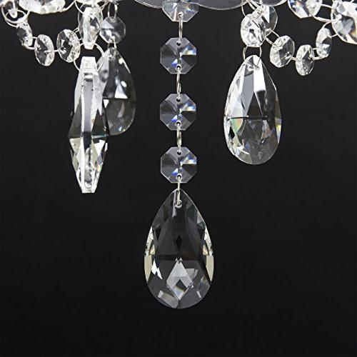 Best Acrylic Chandelier Light Fixture for Dining Room, White