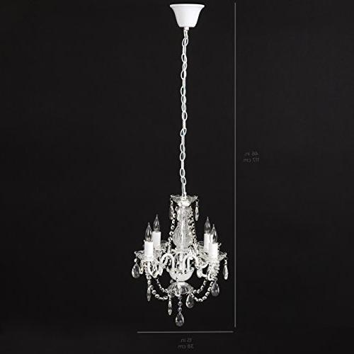 Best Choice Acrylic Crystal Chandelier Light Fixture Room, White