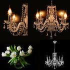 Elegant Clear Fixture Ceiling 4 Light Lighting Crystal Penda