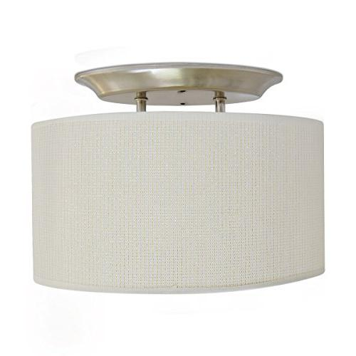 fabric light fixture white oval