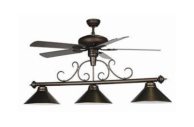 fan light billiard fixture oil