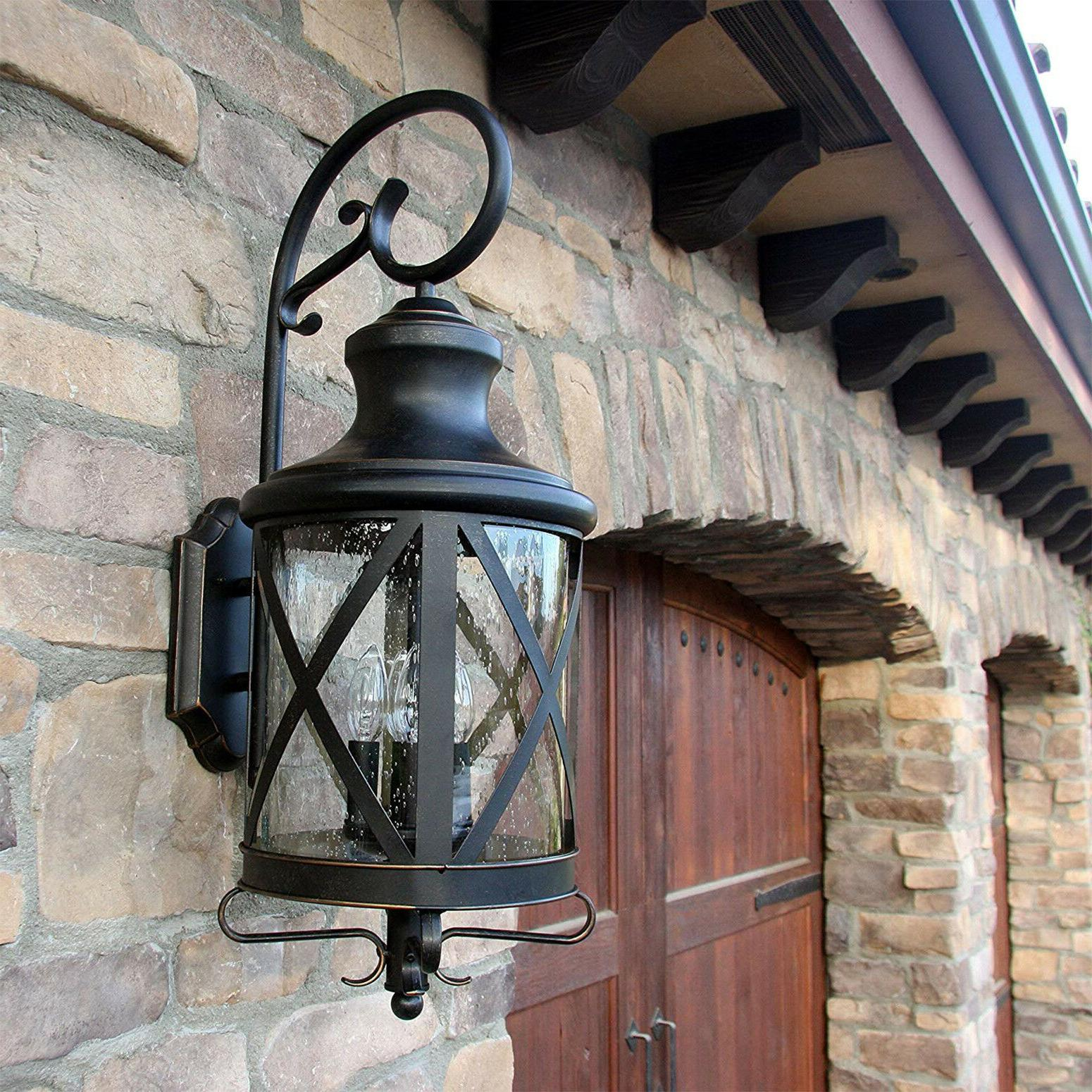 Front Outdoor Mounted Lantern Bronze
