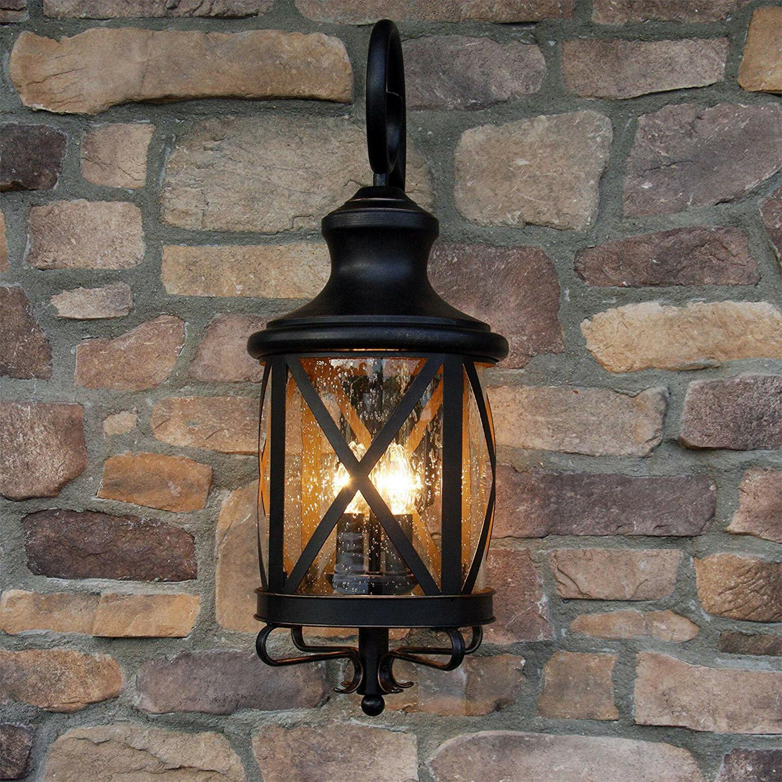 Front Light Fixture Outdoor Exterior Mounted Lantern