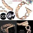 Girl Womens Crystal Link Bracelet Watch Band Strap for Apple