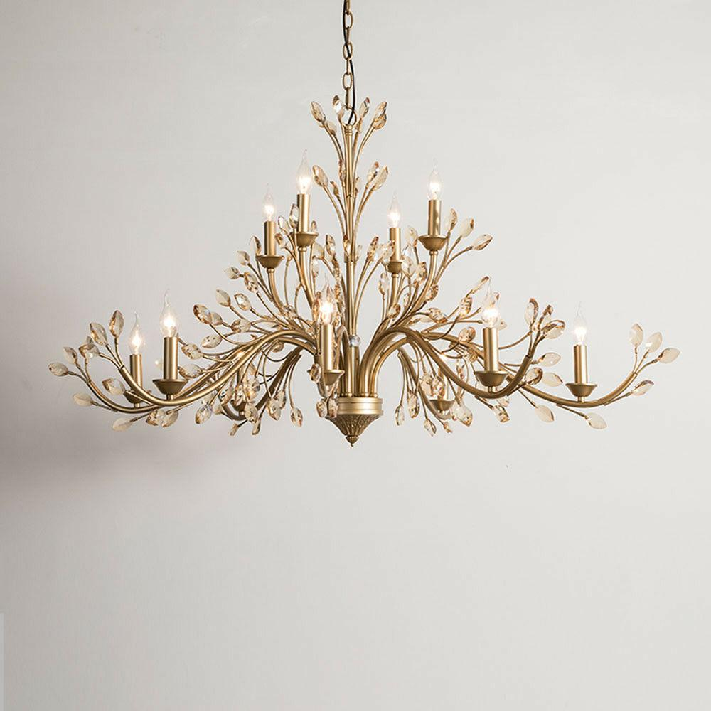gold chandelier ceiling Curtain