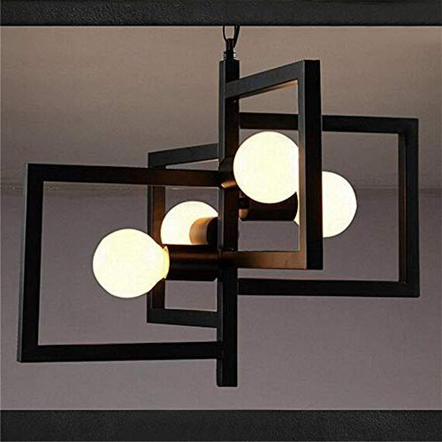 BAYCHEER Retro Style Indoor Lighting Celling Lamp Fixture in Geometric Square Shape 4