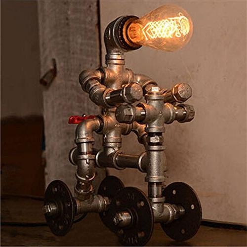 BAYCHEER Retro Lighting Lamp Desk with Valve and Wheel Accent Switch use Lighting Bulb Finish
