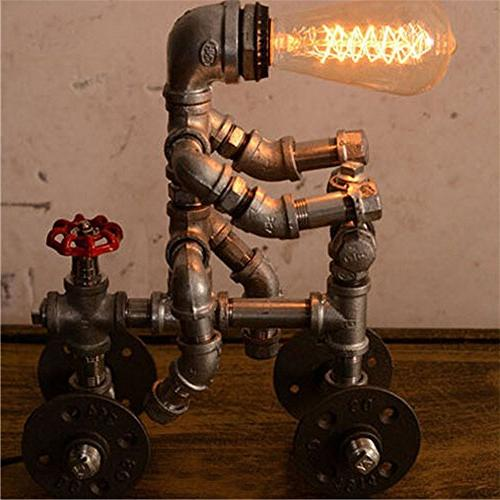 BAYCHEER Industrial Retro Lighting Robot Lamp Desk Light with Accent Switch use Lighting Finish