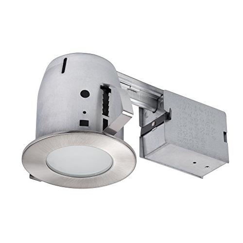 "Globe Electric 4"" LED IC Rated Flush Round Trim Recessed Lig"