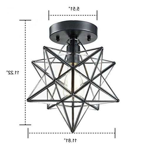 AXILAND Industrial Moravian Star Ceiling Light 12-inch, 1-Light