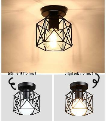 Industrial Edison Hanging Caged Light