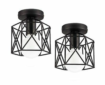 industrial ceiling light edison hanging caged pendant