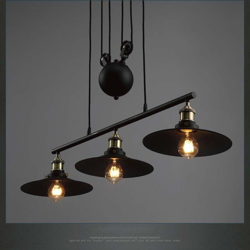 Industrial Pulley Light Lamp Island A