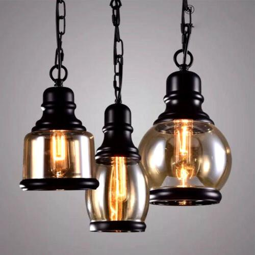Industrial Pendant Hanging Lights Retro Fixtures Cafe
