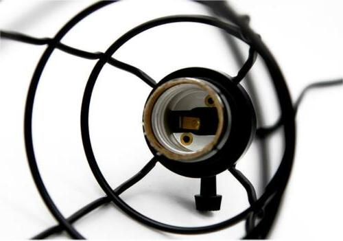 Industrial Cage Vintage Ceiling Lampshade Light