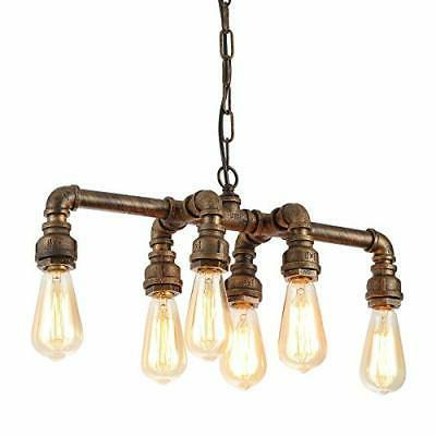 industrial pipe chandeliers with 6 lights max