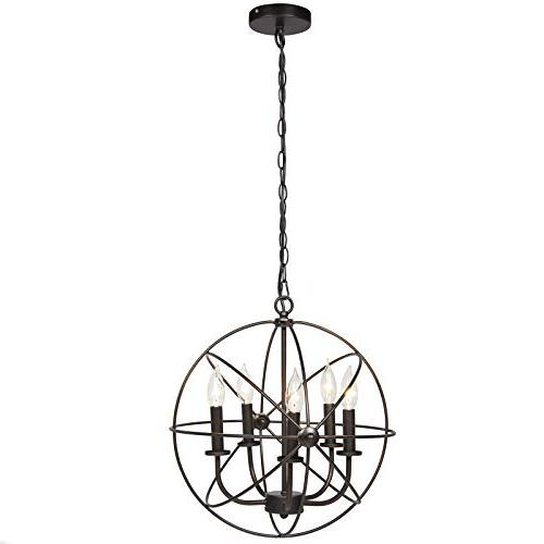 Best Choice 16x15.25in Industrial Steel 5-Light Ceiling for Entryway Bronze