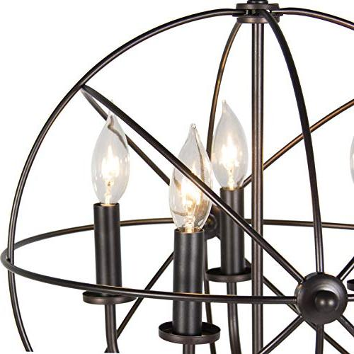 Best Choice Industrial Steel 5-Light for Room, Foyer, Entryway -