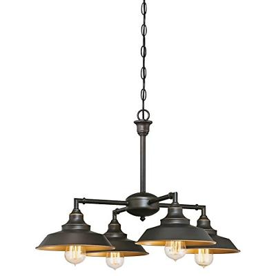 Westinghouse Iron Hill 4-Lt Chandelier/Semi-Flush, Oil Rubbe